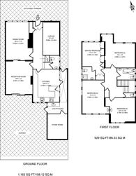 Large floorplan for Fircroft, St Andrews Close, Woodside Park, N12