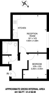 Large floorplan for Bromyard House, Acton, W3