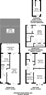 Large floorplan for Crest Road, Dollis Hill, NW2