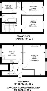 Large floorplan for Brooksby Street, Highbury and Islington, N1