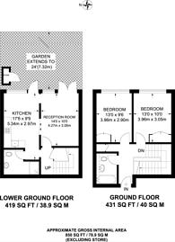 Large floorplan for Chilton Street, Bethnal Green, E2