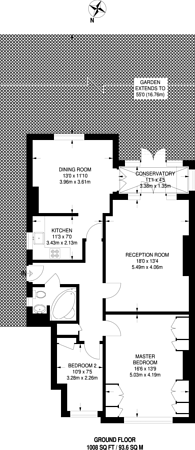 Large floorplan for Egmont Road, Sutton, SM2