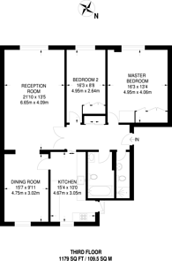 Large floorplan for Montagu Square, Marylebone, W1H