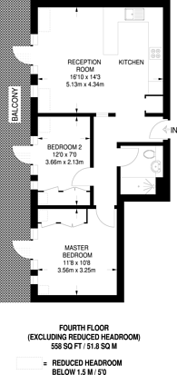 Large floorplan for Clapham Common South Side, Clapham South, SW4