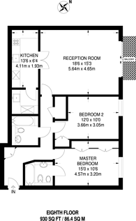 Large floorplan for The Boulevard, Imperial Wharf, SW6