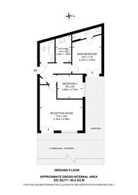 Large floorplan for Merton Road, Wimbledon, SW19