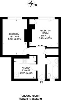 Large floorplan for White Grounds, Bermondsey, SE1