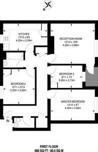 Large floorplan for Narford Road, Clapton, E5