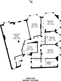 Large floorplan for Park Road, Regent's Park, NW8