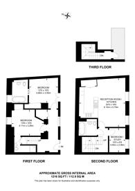 Large floorplan for Palace Wharf, Hammersmith, W6