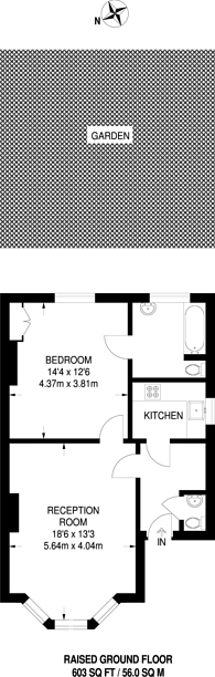 Large floorplan for Ravenna Road, Putney, SW15
