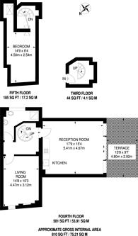 Large floorplan for West Smithfield, City, EC1A