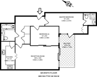 Large floorplan for Harbour Reach, Imperial Wharf, SW6