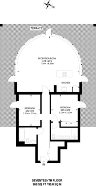 Large floorplan for Hutchings Street, Docklands, E14