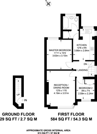 Large floorplan for Connell Crescent, Ealing, W5