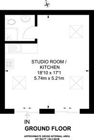 Large floorplan for Brunswick Road, Ealing, W5