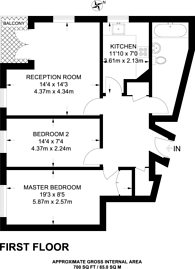 Large floorplan for Mace Street, Bethnal Green, E2
