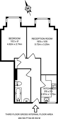 Large floorplan for Alfoxton Avenue, Harringay, N15