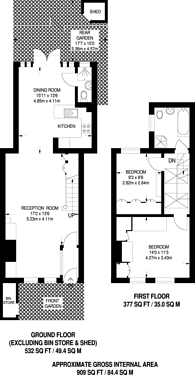 Large floorplan for Childs Street, Earls Court, SW5
