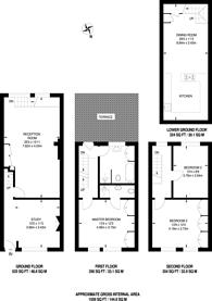 Large floorplan for Island Row, Limehouse, E14