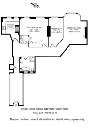 Large floorplan for Iverna Court, Kensington, W8