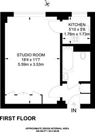 Large floorplan for Broadwalk Court, Kensington, W8