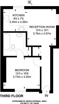 Large floorplan for Ebury Bridge Road, Belgravia, SW1W