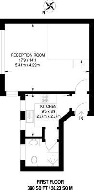 Large floorplan for Thornton Avenue, Streatham Hill, SW2