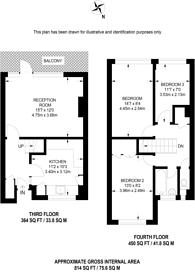 Large floorplan for Hillbeck Close, Peckham, SE15