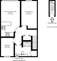 Large floorplan for St Johns Wood Road, St John's Wood, NW8