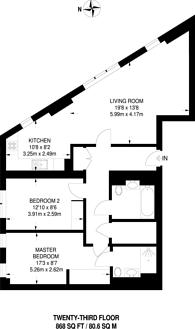 Large floorplan for Saffron Central Square, East Croydon, CR0