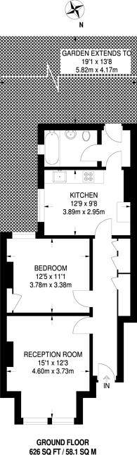 Large floorplan for Avenue Road, Beckenham, BR3