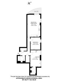 Large floorplan for Wandsworth Road, Vauxhall, SW8