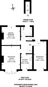Large floorplan for Waverley Way, Carshalton Beeches, SM5