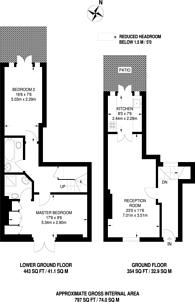 Large floorplan for Penzance Place, Holland Park, W11