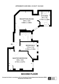 Large floorplan for Argyll Mansions, West Kensington, W14
