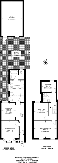 Large floorplan for Rutland Road, Forest Gate, E7