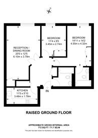 Large floorplan for Hugh Street, Pimlico, SW1V
