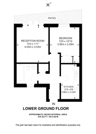 Large floorplan for Courtfield Gardens, South Kensington, SW5