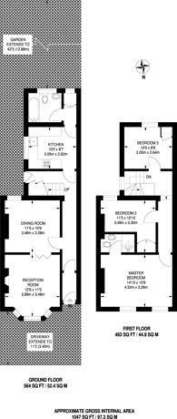 Large floorplan for Pembroke Road, Bromley, BR1