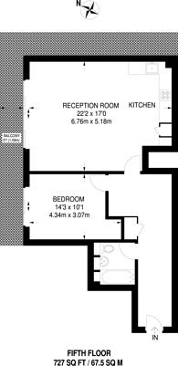 Large floorplan for Fifteen Lansdowne, Croydon, CR0