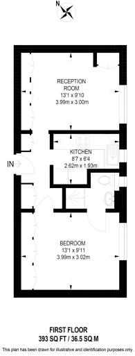 Large floorplan for Thackeray Court, Chelsea, SW3