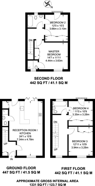 Large floorplan for Enterprize Way, Rotherhithe, SE8