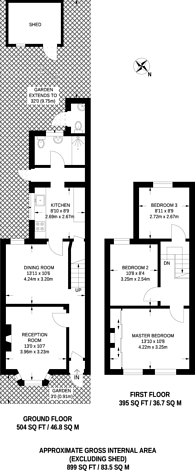 Large floorplan for Belgrave Road, Plaistow, E13
