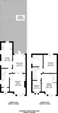 Large floorplan for Sandringham Gardens, North Finchley, N12