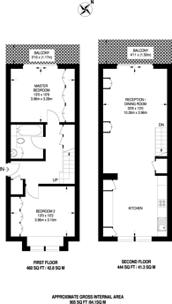 Large floorplan for Thorney Crescent, Battersea, SW11