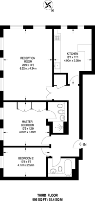 Large floorplan for Cannon Hill, Southgate, N14
