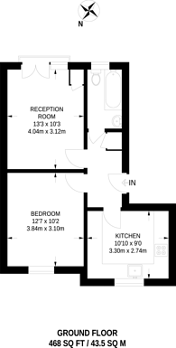 Large floorplan for King Henry Street, Newington Green, N16