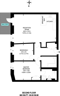 Large floorplan for Vaughan Way, St Katharine Docks, E1W