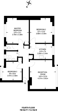 Large floorplan for Gray Street, Waterloo, SE1